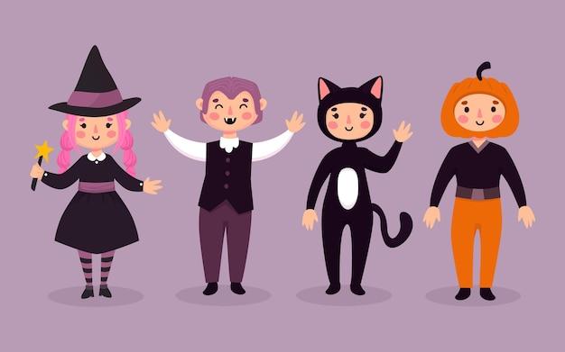 Coleção de criança de halloween