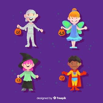 Coleção de criança em aquarela halloween