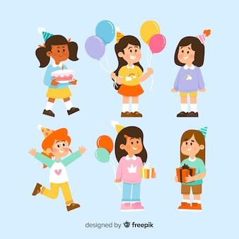 Coleção de crianças de aniversário