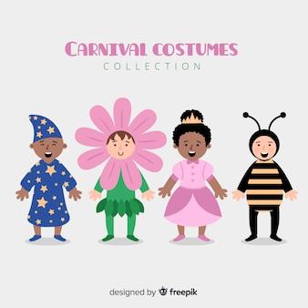 Coleção de crianças de carnaval