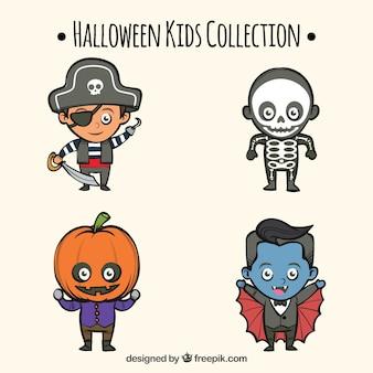 Coleção de crianças de halloween