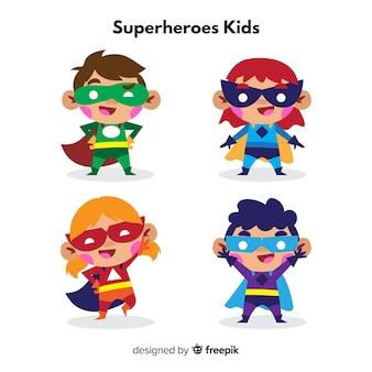 Coleção de crianças de super-herói