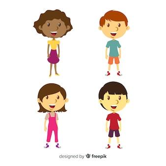 Coleção de crianças do dia das crianças