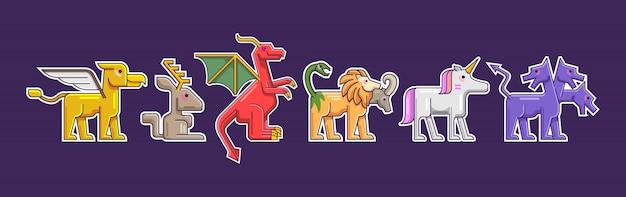 Coleção de criaturas mythialc