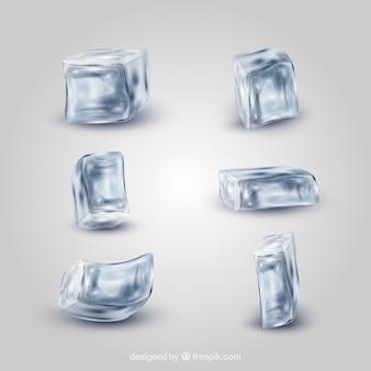 Coleção de cubo de gelo realista
