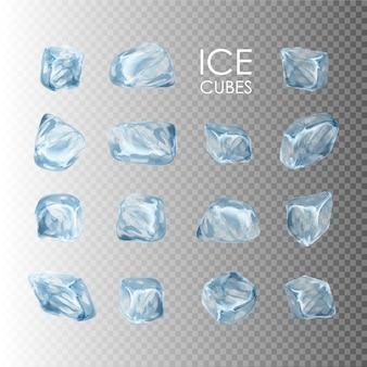 Coleção de cubos de gelo