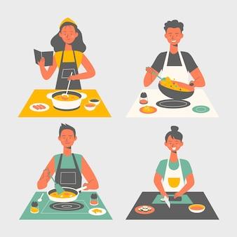 Coleção de culinária de pessoas