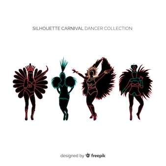 Coleção de dançarino de carnaval brasileiro