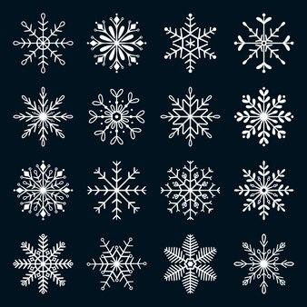 Coleção de decoração de flocos de neve de natal