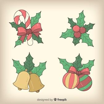 Coleção de decoração de natal vintage