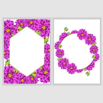 Coleção de decoração floral cartão