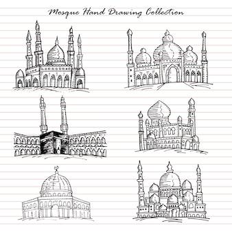 Coleção de desenho de mão de mesquita