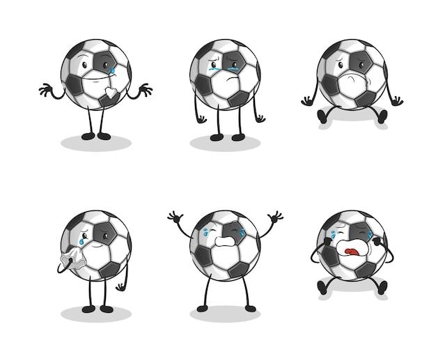Coleção de desenhos animados de futebol