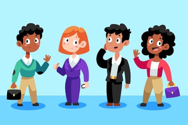 Coleção de desenhos animados executivos