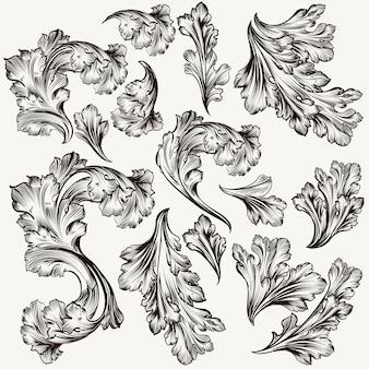 Coleção de desenhos de folhas