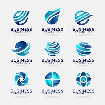 Coleção de desenhos de logotipo de negócios