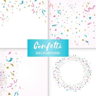 Coleção de design colorido confettcelebratory