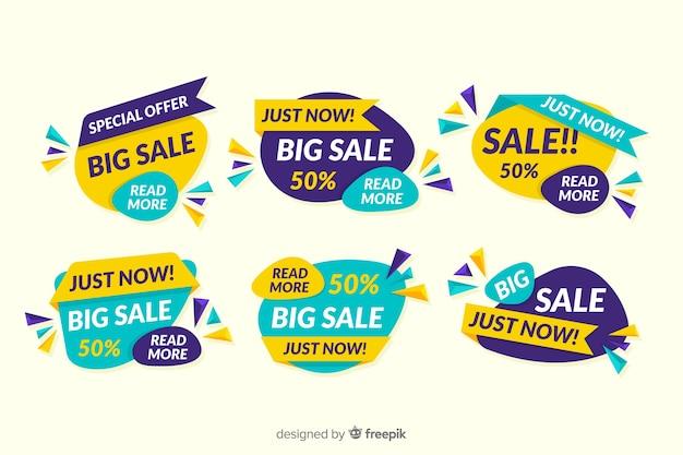 Coleção de design de banner abstrato de vendas