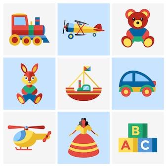 Coleção de design de brinquedos