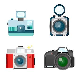 Coleção de design de câmera