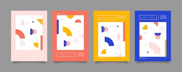 Coleção de design de capa de memphis