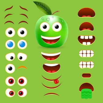Coleção de design de criador de emoji masculino da apple