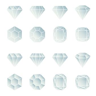Coleção de design de diamantes