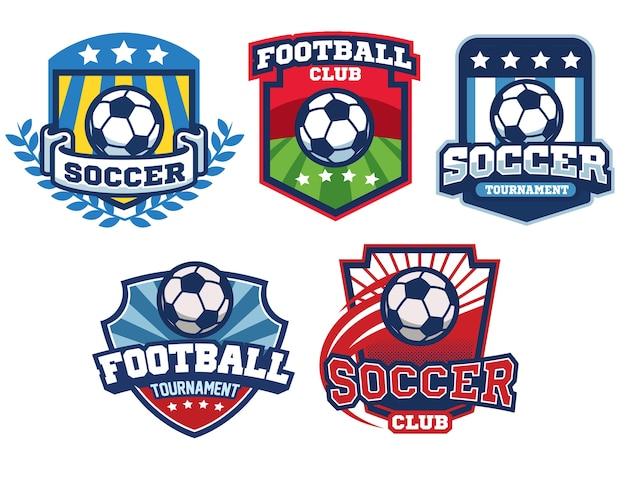 Coleção de design de distintivo de futebol