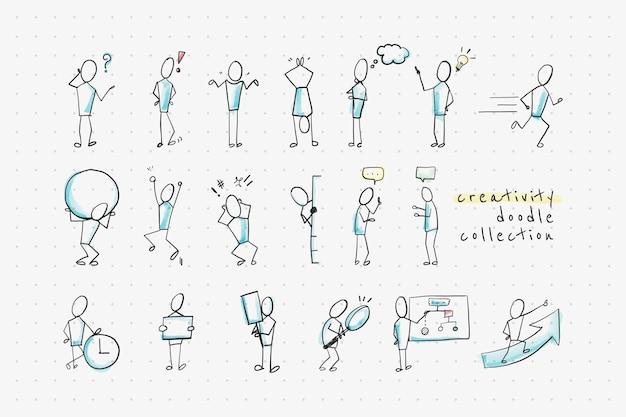 Coleção de design de doodle de criatividade