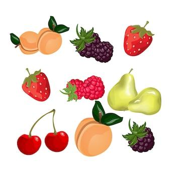 Coleção de design de frutas