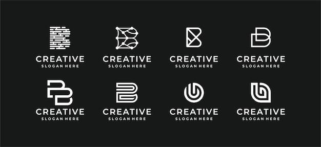 Coleção de design de ilustração de logotipo abstrato