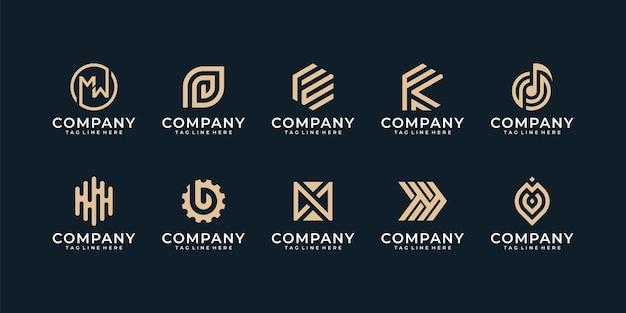 Coleção de design de logotipo abstrato