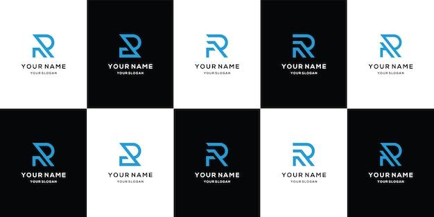 Coleção de design de logotipo da letra r