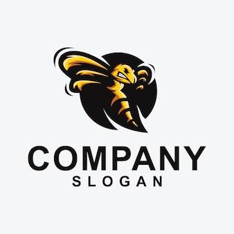 Coleção de design de logotipo de abelha
