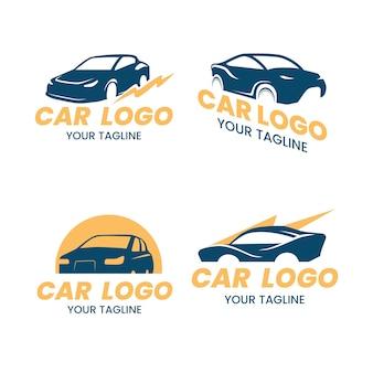 Coleção de design de logotipo de carro
