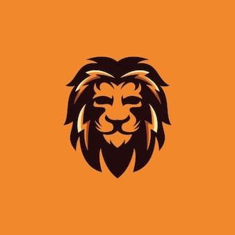 Coleção de design de logotipo de leão