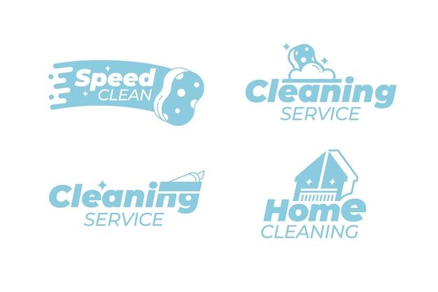 Coleção de design de logotipo de limpeza
