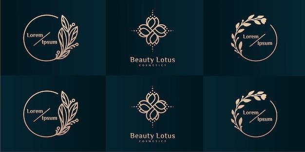 Coleção de design de logotipo de luxo para branding, modelos de design de identidade corporativa.