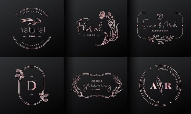 Coleção de design de logotipo de luxo