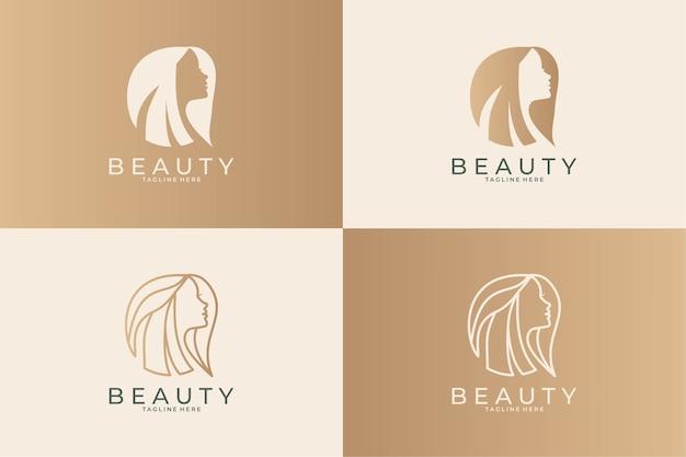 Coleção de design de logotipo de mulheres de beleza