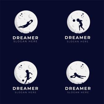Coleção de design de logotipo dos sonhos de criança