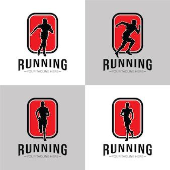 Coleção de design de logotipo em execução