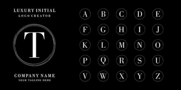 Coleção de design de logotipo inicial de luxo