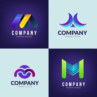 Coleção de design de logotipo m