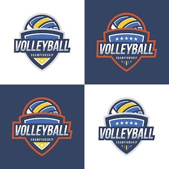 Coleção de design de logotipos de voleibol