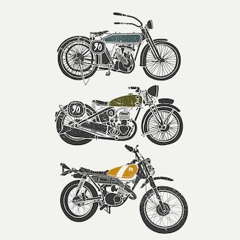 Coleção de design de moto