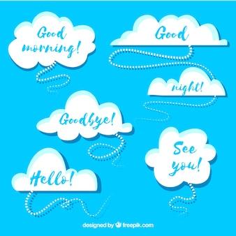 Coleção de design de nuvens