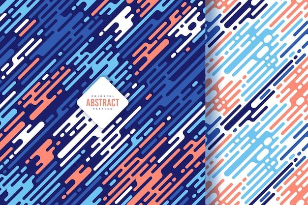 Coleção de design de padrão de arte de linha colorida abstrata