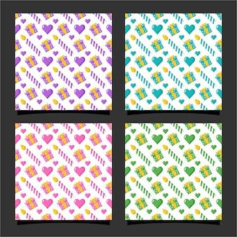 Coleção de design de padrão sem emenda de feliz aniversário