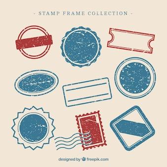 Coleção de design de selos